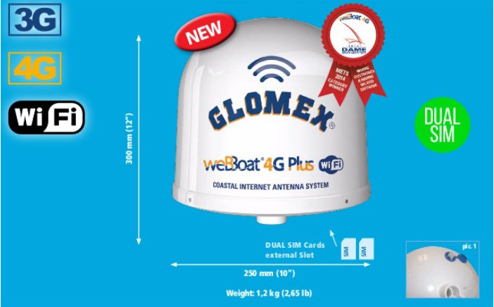 WEBBOAT4G PLUS IT1004PLUS/US - INTERNET DEVICES Glomex Marine Antennas USA