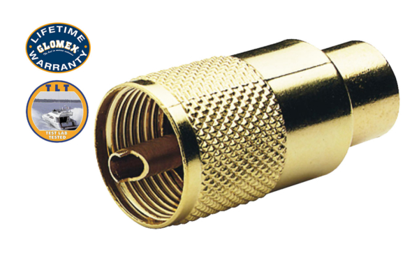 Connectors - RA131GOLD - GOLD TWIST-ON PL-259 CONNECTOR FOR RG-213/U