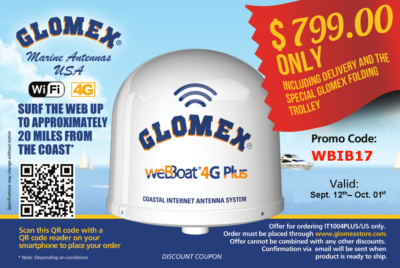 Glomex Marine Antennas USA - Special Offer September 2017